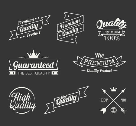 Vintage premium quality label vector set Illustration