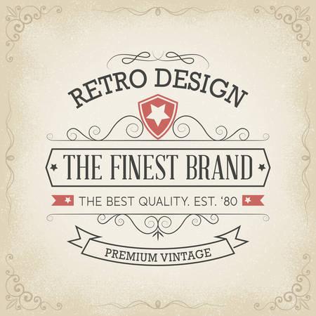 Vintage Hand drawn Banner Standard-Bild - 33980314