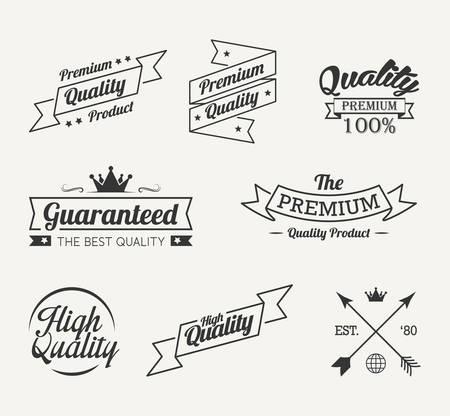 Vintage premium quality label vector set Ilustração