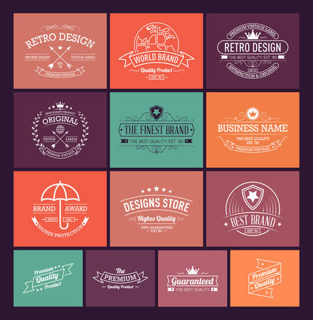 Vintage banners and frames hand drawn vector set