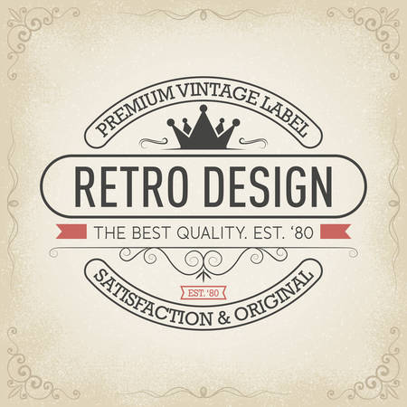 Vintage hand drawn banners