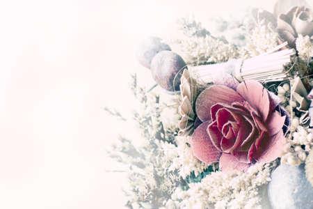 flores secas: Flores secas con tratamiento vintage