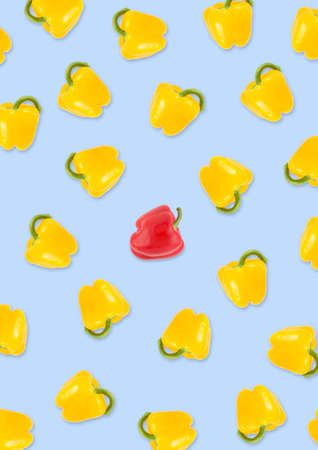 Background of a group of peppers in vertical format