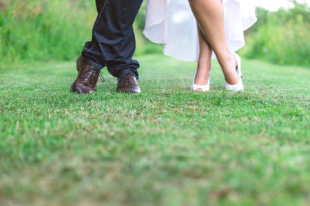 Bride and Grooms Shoes
