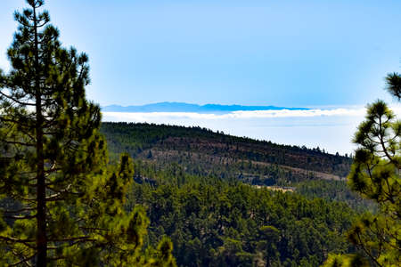 Tenerife, Canary Islands - View of La Gomera island from Teide