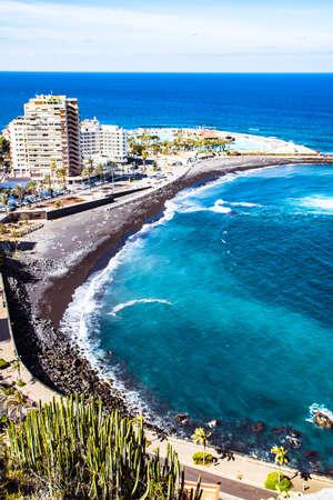 Tenerife, Canary Islands - View of Martianez beach at Puerto de la Cruz Stock Photo