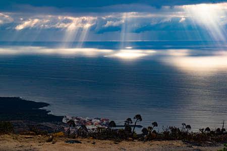 Sunlight games over the Atlantic Ocean Archivio Fotografico