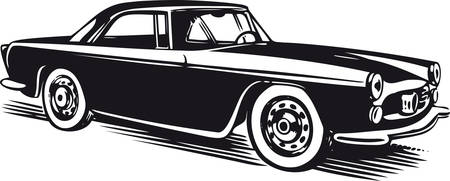 Classic car, Retro Vector Illustration