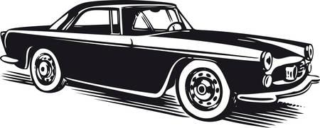 Classic car, Retro Vector Illustration