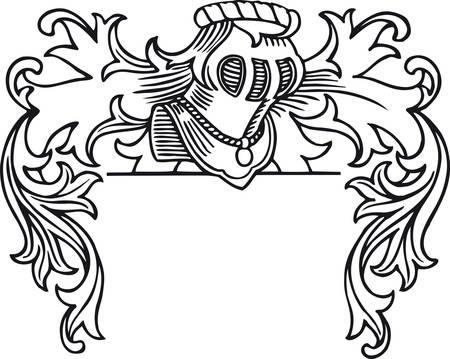 Family coat of arms, Retro Vector Illustration Vector Illustration