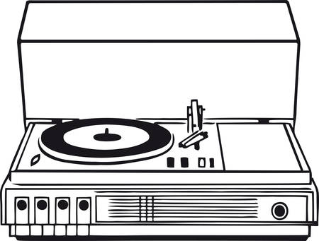 Stereo system, Retro Vector Illustration