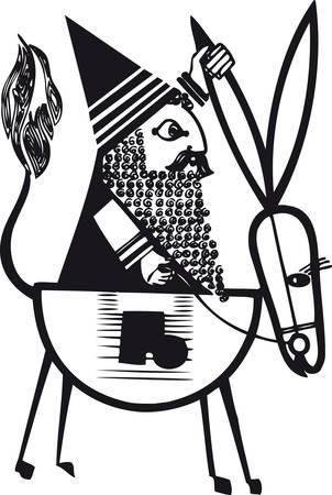 Santa Claus 5, Retro Vector Illustration 일러스트