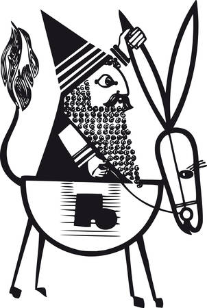 Santa Claus 5, Retro Vector Illustration 矢量图像