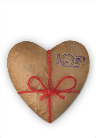 Heart Mail, Heart illustrated as a Parcel to send Reklamní fotografie