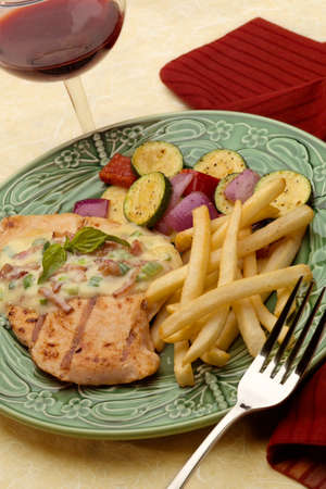 Chicken Breast with Fries and Vegetables Menu