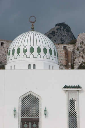 Mosque at Europa Point with the Upper Rock Behind as background photo