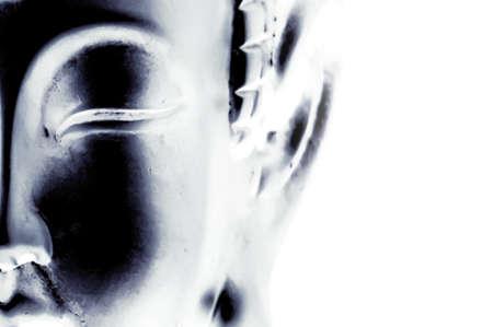 cabeza de buda: La mitad de una cara de Buda con un toque art�stico Foto de archivo