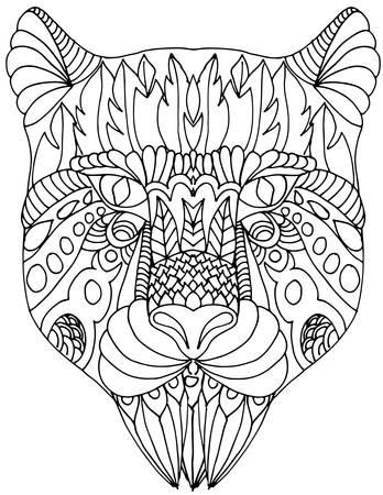 predator: hand drawn image of a wild predator