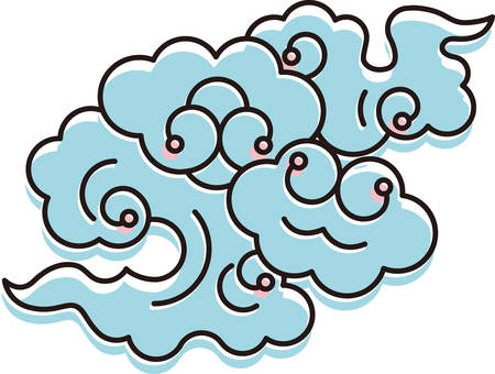 Japanese clouds icon