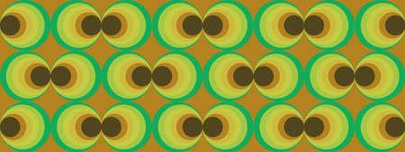 70's retro pattern material vector illustration