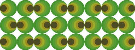 70's retro pattern material vector illustration Vectores