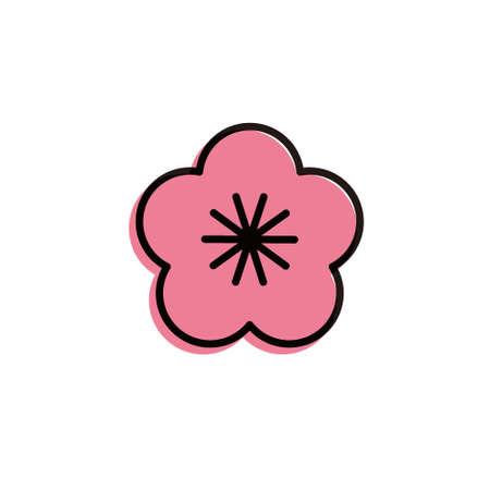 flat design vector icon[ume]plum Illustration