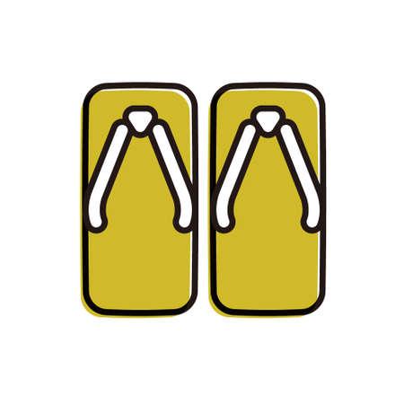 flat design vector icon[zori]sandals