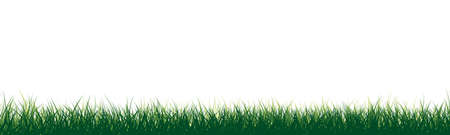 Meadow vector illustration green silhouette