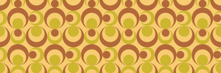 70's retro seamless pattern material illustration