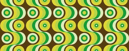 70's retro seamless pattern material illustration