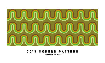 70's retro seamless pattern material  illustration Vectores