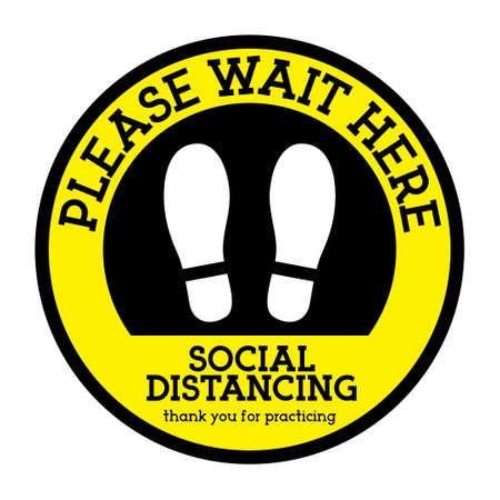 Social distancing Signs of landmarks to keep distance