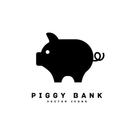 piggy bank silhouette icon vector illustration