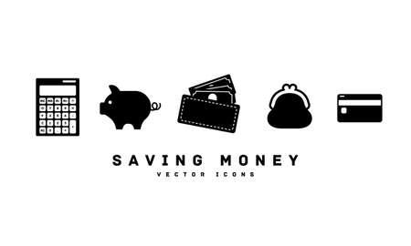 Savings silhouette icon vector illustration