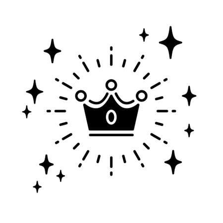 Crown vector illustration icon