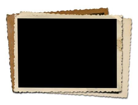 old photographs: Blank Photo  Isolated on white