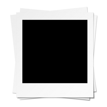 Blank Photo  Isolated on white  Clipping path included