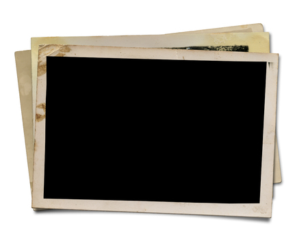 old photograph: Blank Photo  Isolated on white   Stock Photo