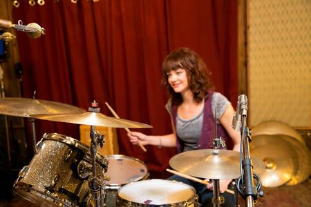 Drummer drummen Stockfoto