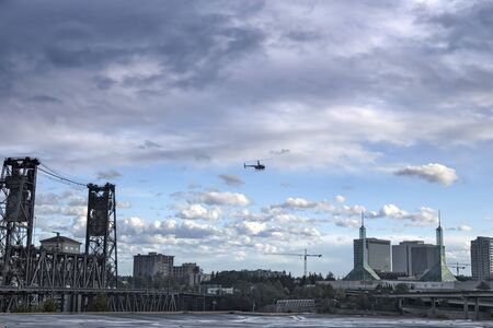 heliport: View from heliport platform Stock Photo