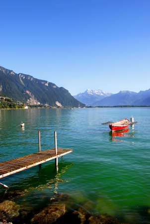 boat, picture taken on the Lake Geneva, Switzerland