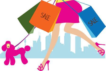 compras chica: compras ni�a Vectores