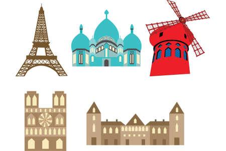 parisian architecture Illustration
