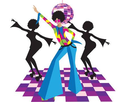 retro disco: discoteca Vectores
