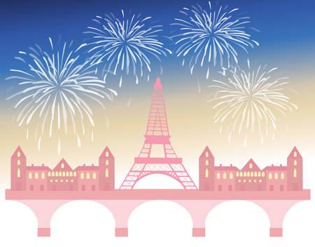 parisian: parisian celebration Illustration