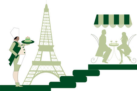 parisian scene Stock Vector - 6076268