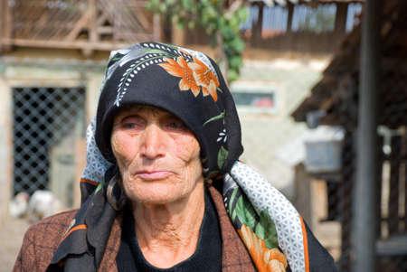 seniority: Portrait of an aged woman Stock Photo