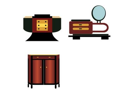 Art deco furniture Vector