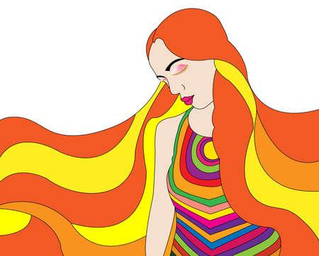 hippie girl Stock Photo