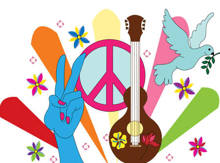 hippie background